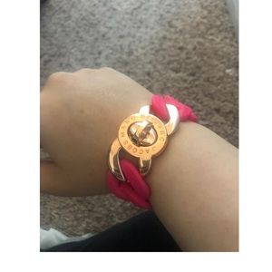 MARC JACOBS Rose Gold & Hot Pink Bracelet